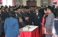 Pengucapan Sumpah/Janji Anggota DPRD Kabupaten Tabanan  Masa Bhakti 2014-2019