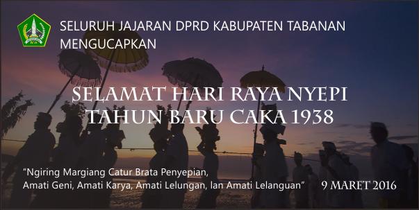 Selamat Hari Raya Nyepi Tahun Baru Caka 1938