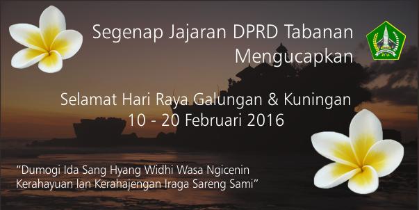 Selamat Hari Raya Galungan Kuningan 10 20 Februari 2016 Dprd Tabanan