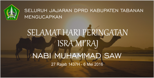 Selamat Memperingati Hari Isra' Mi'raj 1437 Hijriyah
