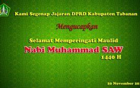 Selamat Memperingati Maulid Nabi Muhammad SAW 1440 H