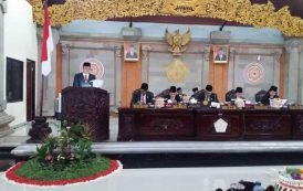 Sidang Paripurna Istimewa, DPRD Sampaikan Rekomendasi LKPJ Bupati Tabanan Akhir Tahun Anggaran 2017