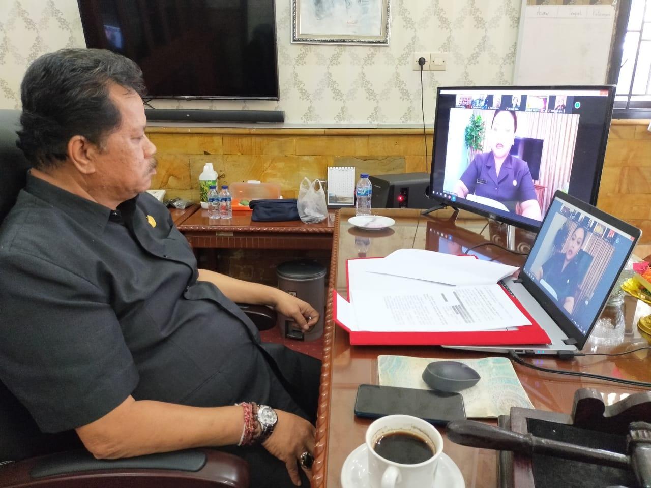 Di Tengah Pandemi Corona, DPRD Tabanan Gelar Rapat Paripurna Lewat Teleconference
